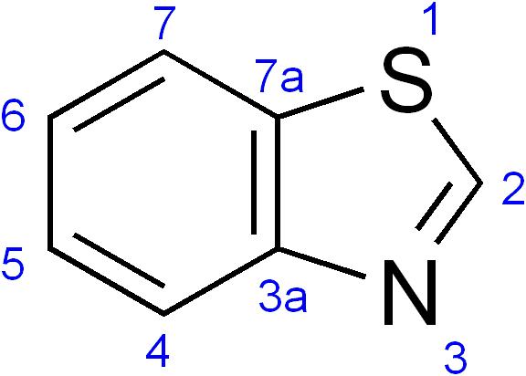 Benzothiazole - Paramètre chimique