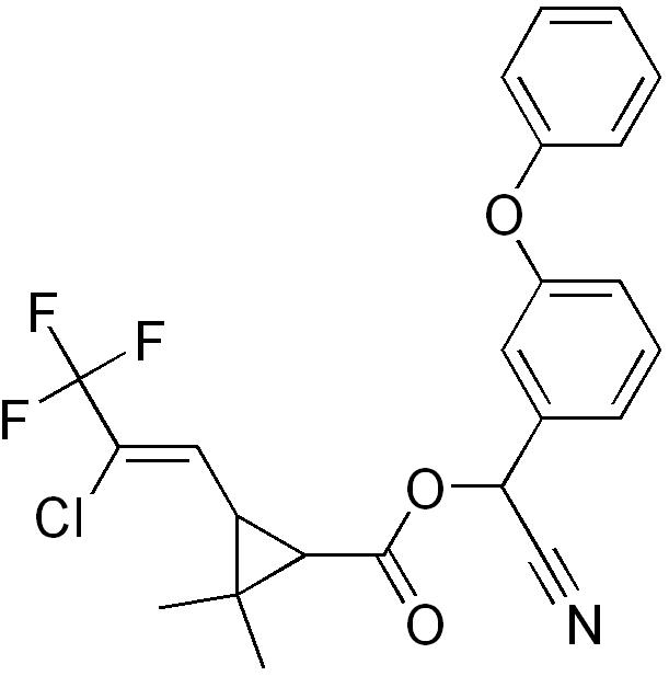 Cyhalothrine - Paramètre chimique
